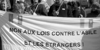 Manifestation du Non aux lois contre l'asile