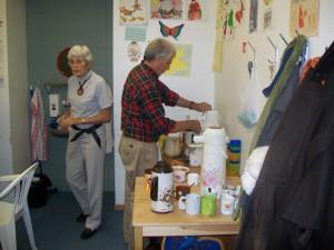 Bénévoles au Café-Contact de Ste-Croix