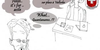 Edward Snowden demande l'asile politique à la Suisse