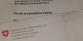 Courrier du Secrétariat d'Etat aux migration annonçant que la Suisse est responsable du traitement de la demande d'asile du recourant. Par conséquent, la procédure d'asile sera poursuivie en Suisse.