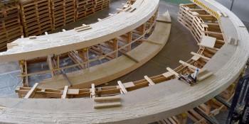 """""""Le pont"""" en construction. Photo: Etat du Valais."""