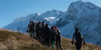 Photo de la rédaction valaisanne - La découverte de la montagne par les jeunes MNA du valais