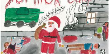 Fête de Noël au camps de réfugiés de Yarmouk