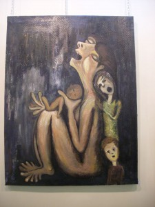 """The cries of death"" by Eissa Mousa, syrian painter."