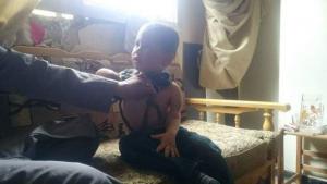 Amar: l'enfant de Yarmouk blessé à trois reprises