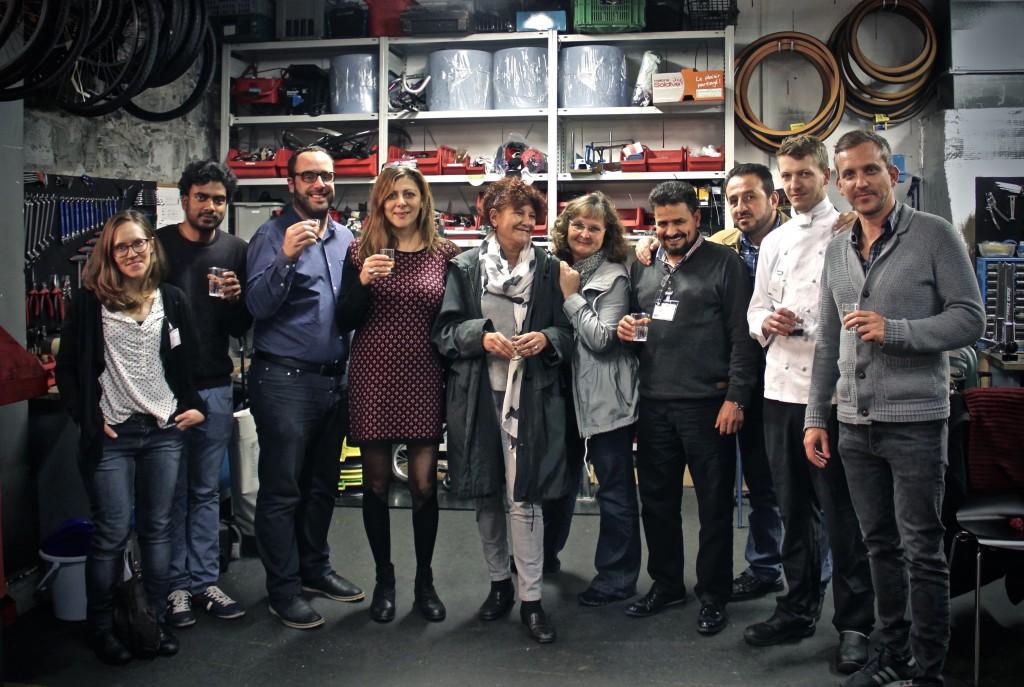 Photo des organisateurs et organisatrices du vernissage et de la conférence de presse. Auteure: Mariana Nanzer.