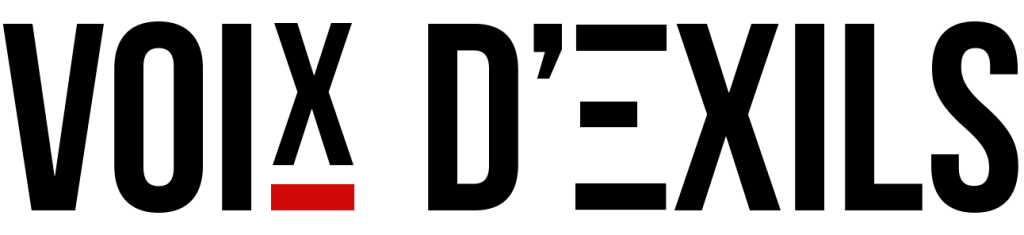Nouveau logo de Voix d'Exils. Réalisation: Senad Toska et Omar Odermatt.