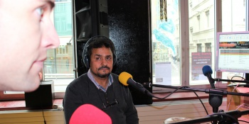 Afif Ghanimi. Auteur: Georgi, membre de la rédaction vaudoise de Voix d'Exils