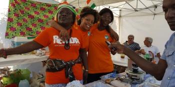 Côte d'Ivoire. « Nous sommes contents de cette fête et dans deux ans nous reviendrons représenter notre beau pays ». Photo : rédaction valaisanne de Voix d'Exils.