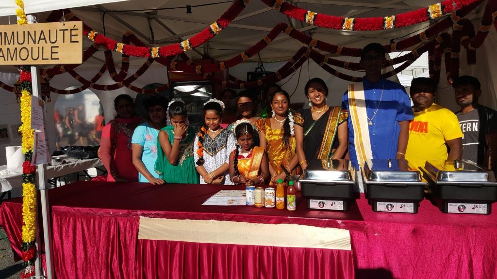 Communauté tamoule originaire du nord du Sri-Lanka. Photo : rédaction valaisanne de Voix d'Exils.