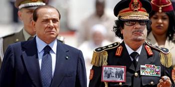 Couple Berlusconi Kadhafi