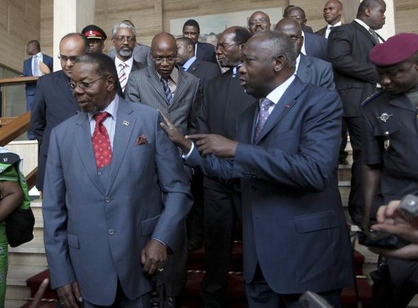 Bingu wa Muthaika rencontre Laurent Gbagbo